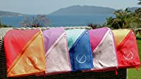 Microfiber Beach &Travel Towel by DEEM FINE- Quick Dry & Ultra Soft with Zip Pocket For Camping, Gym, XL 63'x32', AZO Free, Antibacterial w/Handy Carry Bag