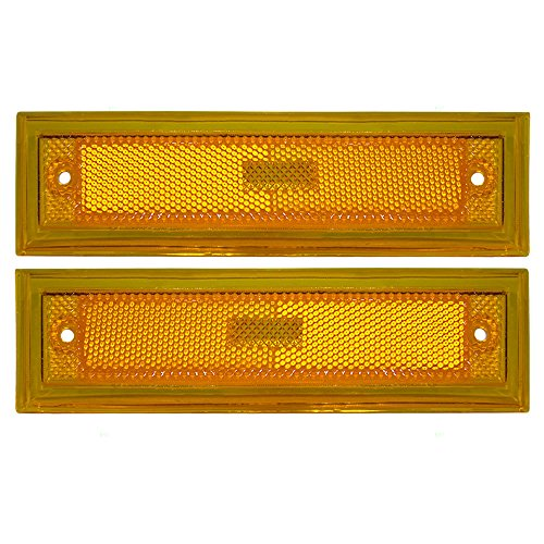 Driver and Passenger Signal Side Marker Lights Replacement for Chevrolet GMC Pickup Truck SUV 915449 915450 AutoAndArt