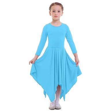 Dutiful Girls Long Sleeve Dress Kids Praise Dress Church Dancing Liturgical Dance Wear Clothing, Shoes & Accessories Dresses
