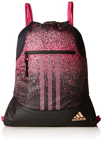 adidas Alliance sublimated prime sackpack, Bahia Magenta/Black/Chalk Coral, One Size by adidas