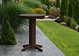 "Outdoor Patio High Top Bar Table 33"" Round - All Weather Hightop Dining Pub Tables Amish Made with All Weather Recycled Poly Wood - 12 Gorgeous Colors (Tudor brown)"