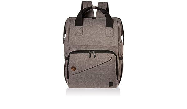 Ferlin pañal multifucional del bebé, panal, bolsas, mochila con cambio de cojinetes, diseño de moda con material anti-agua para la mamá y papá (Grey-0911): ...