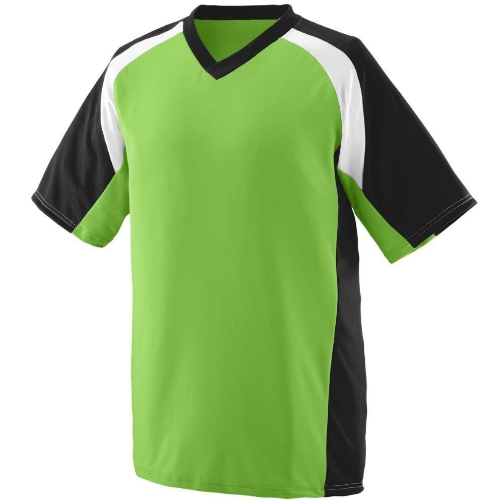 Augusta Youth WickingポリエステルVネック半袖( 1536 ) B00HJTO1SW Medium|Lime/Black/White Lime/Black/White Medium
