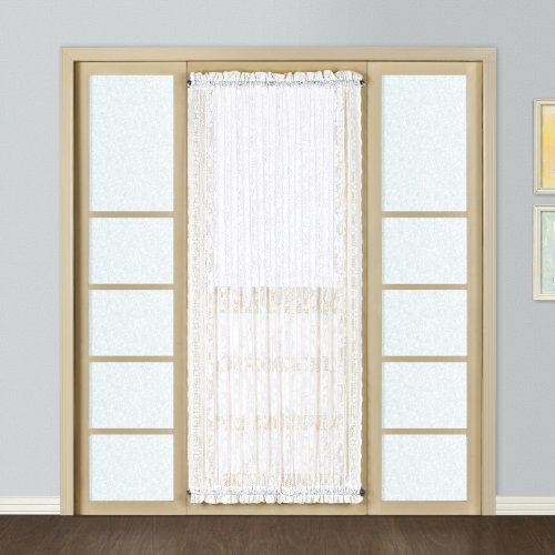 United Curtain Windsor Lace Door Curtain Panel, 56 by 72-Inch, White ()