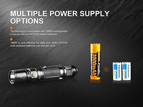 Fenix PD35 V2.0 2018 1000 Lumen Flashlight rechargeable bundle with Fenix USB Rechargeable 3500mAh li-ion Battery & EdisonBright battery carry case by EdisonBright (Image #8)
