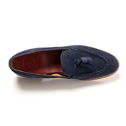 141ae799a27 Grenson Scottie Navy Suede Loafer Lesi E  Amazon.co.uk  Shoes   Bags