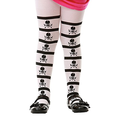 Striped Mid-Rise Skull & Crossbones Halloween Children