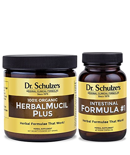 Dr. Schulze's HerbalMucil Plus Powder (8 Ounces) and Intestinal Formula #1 Capsules (90 Capsules) – Organic Herbal Supplements Review