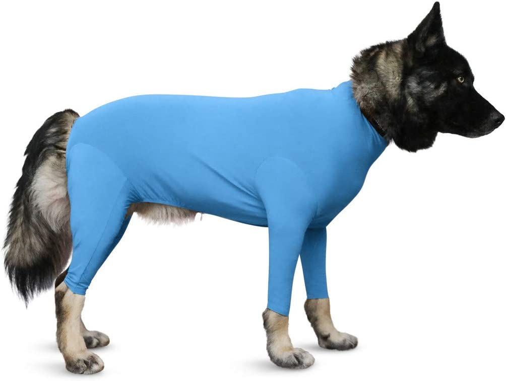 Shed Defender Sport Dog Onesie - Seen On Shark Tank, Contains Shedding of Dog Hair for Home, Car, Travel, Anxiety Calming Shirt, Covers Hot Spots, UV and Tick Protection