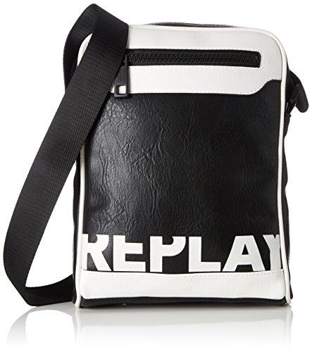 REPLAY Fm3323.000.a0132, Shoppers y bolsos de hombro Hombre, Negro (Black), 5x28x21 cm (B x H T)