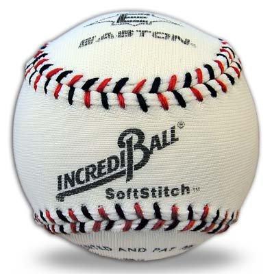 Easton Softstitch Incrediball Soft Baseball, White, 9-Inch BBA1002X