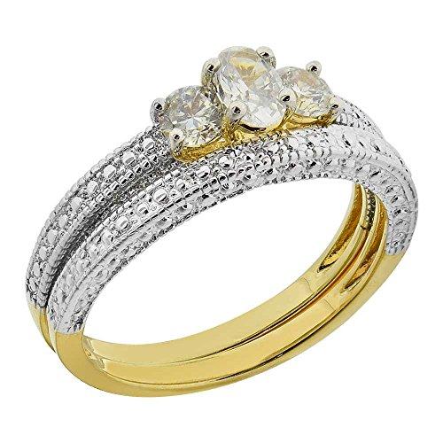 Golden Oval Ring - 8