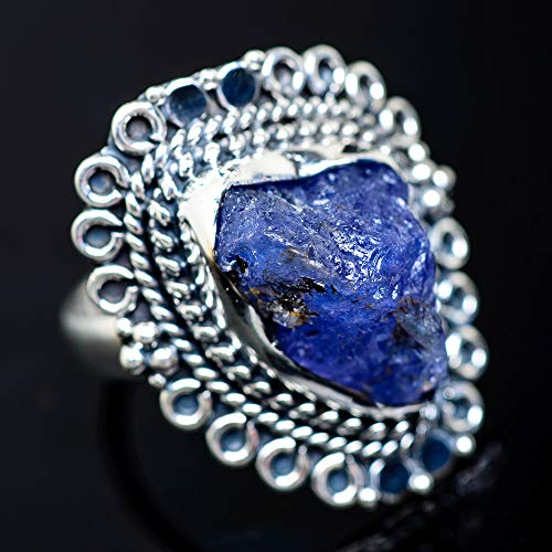 Ana Silver Co Rough Tanzanite Ring Size 6 (925 Sterling Silver) - Handmade Jewelry, Bohemian, Vintage RING941262 (Ana Silver Tanzanite Rings)
