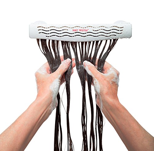 Hair Works 4-in-1 Hair Extension Style Caddy - Lightweight, Waterproof and Portable, This Hair Extension Holder Is Designed To Securely Hold Your Extensions While You Wash, Style, Pack and Store Them by Hair Works (Image #3)