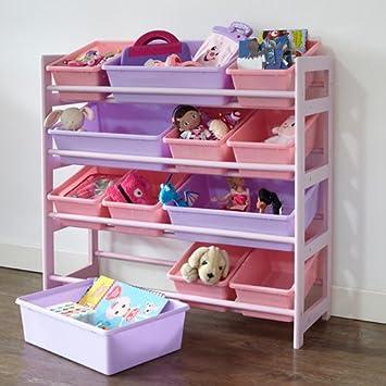 4 Tier Toy Storage Unit - Pink: Amazon.co.uk: Kitchen & Home