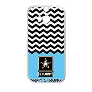 Canting_Good US Army Chevron Custom Case Shell Cover for HTC One M8 (Laser Technology) by ruishername