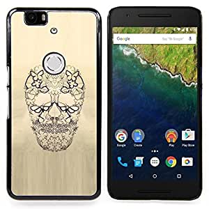 - Skull Floral Butterfly Spring Death - - Snap-On Rugged Hard Cover Case Funny HouseFOR Huawei Nexus 6P