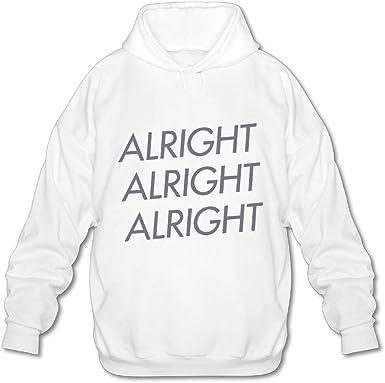 OPQRSTQ-O Alright Alright Alright Mens Printed Hooded Sweatshirt Hoody