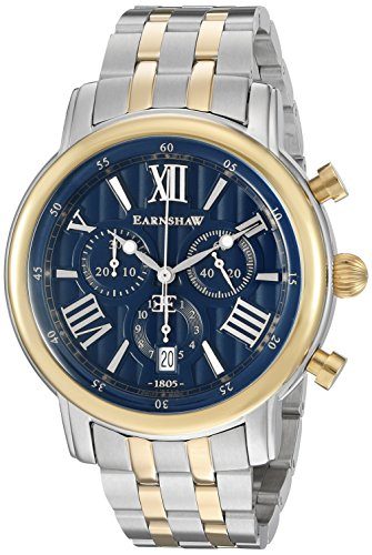 Thomas Earnshaw Men's 'Longcase 43' Swiss Quartz Stainless Steel Dress Watch (Model: ES-0016-22)