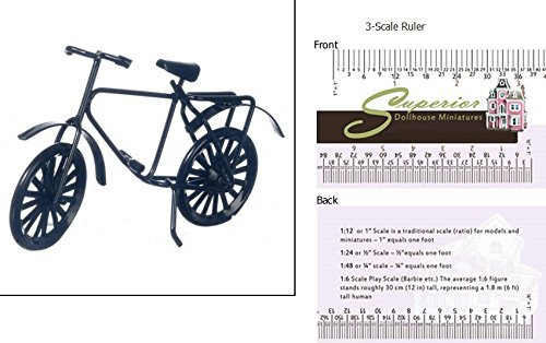 Dollhouse Miniature Black Bicycle (Dollhouse Bicycle)