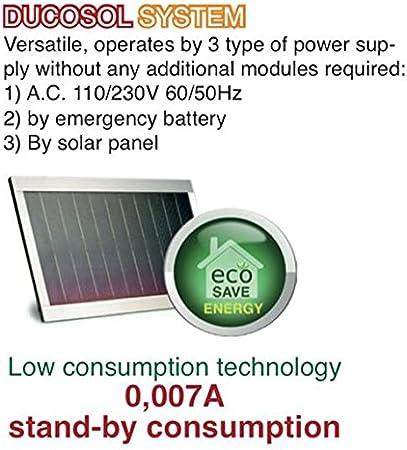 HC812 – 400 Pro Solar Mono automatismo Kit motorización Ducati Home para puerta corredera Solar 100% inalámbrica abre Portal: Amazon.es: Bricolaje y herramientas