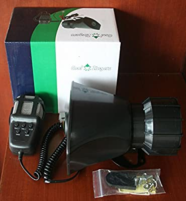 Cool Zingers 100 Watt Police Siren 5 Sound Emergency Vehicle Warning Speaker PA System Microphone 12v
