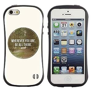 """Pulsar iFace Series Tpu silicona Carcasa Funda Case para Apple iPhone SE / iPhone 5 / iPhone 5S , Estaré allí White Spot Ronda Bosque Amor Naturaleza"""""""