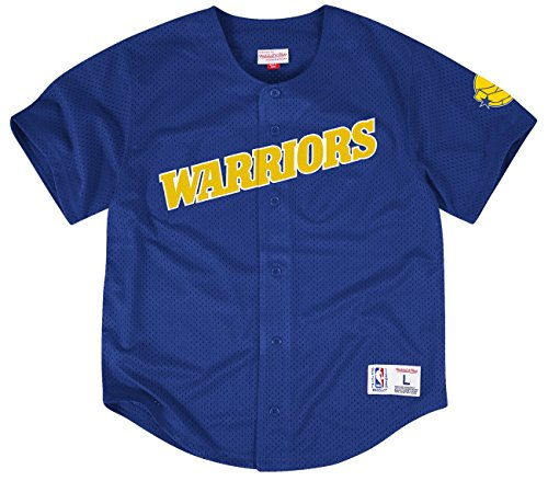 Golden State Warriors Mitchell And Ness Button Front Jersey (large)