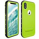 SpringRay iPhone Xs Max Waterproof Case IP68 Certified Shockproof Dustproof Snowproof Full Body Rugged Protective Cover with Built-in Screen Protector for iPhone Xs Max 2018 Released 6.5 inch (Green)