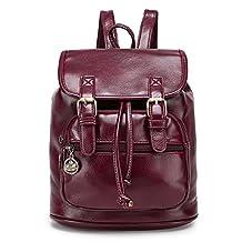 KALENDS Women's Work Packages Vintage style PU Backpacks ( Purple)