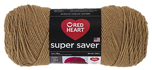 RED HEARTE300 Super Saver Yarn, Warm Brown