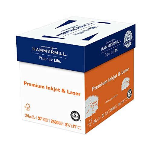 Hammermill Paper Ink & Laser Poly Wrap LETTER 24lb 97-Bright 2500-Sheet Deal (Large Image)