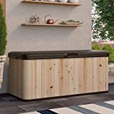 Suncast Extra Large Cedar and Plastic 120-Gallon Deck Box - WRDB12000