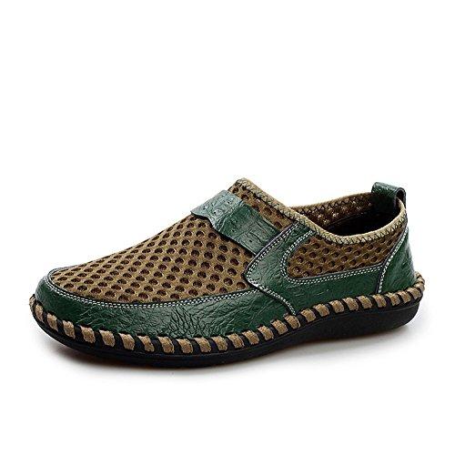 Verde Hombre Zapatillas Plano On AgeeMi Oscuro Shoes Slip Transpirable Ug0UpPq