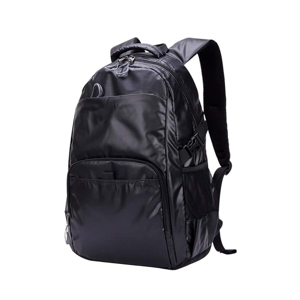 L-LK 軽量カジュアルバックパック、旅行バックパック、ファッショントレンドバックパック、ラップトップバッグ、スクールバッグ防水男性と女性の軽量カジュアルなバックパックは、16インチのラップトップを収容することができます 黒 a