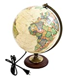 The Nobel Globe with Lighting 12''. Made in the USA