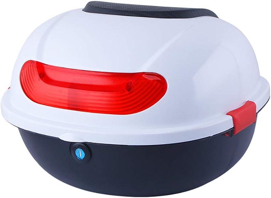 Top Case Gep/äck Scooter Sturdy haltbare hat gen/ügend Raum Farbe: Motorrad Koffer Helm Rack mit Nachtlicht Warnung YZJJ Motorrad-Seitenkasten//Motorrad-Top-Box