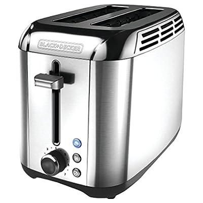 BLACK+DECKER TR3500SD 2-Slice Toaster, Bagel Toaster, Stainless Steel