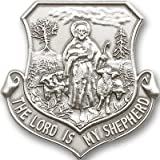 Antique Silver Tone Lord Is My Shepherd Visor Clip