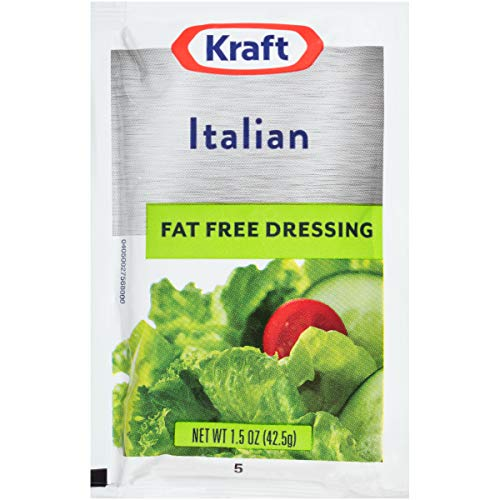 Kraft Italian Fat Free Salad Dressing (1.5 oz Packets, Pack of 60)