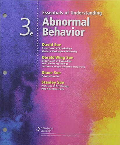 Bundle: Essentials of Understanding Abnormal Behavior, Loose-leaf Version, 3rd + MindTap Psychology, 1 term (6 months) Printed Access Card + Fall 2017 Activation Printed Access Card