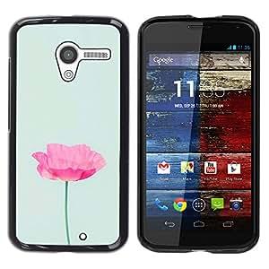 iKiki Tech / Estuche rígido - Flower Minimalist Pink Light Green - Motorola Moto X 1 1st GEN I XT1058 XT1053 XT1052 XT1056 XT1060 XT1055