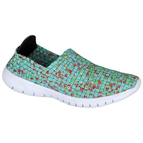Laufschuhe - Turnschuhe - Schuhe - Slipper - Damen mit Farb- und Größenauswahl Grün