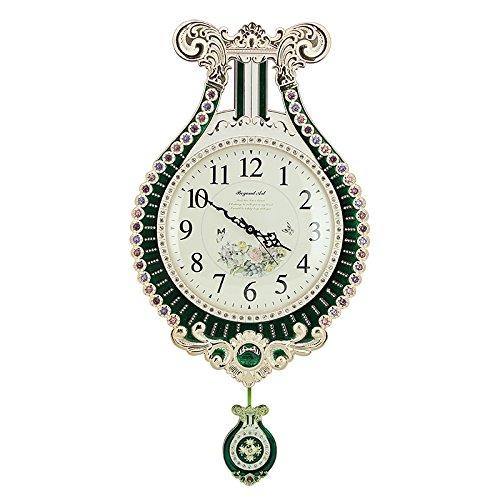 ヨーロッパスタイルの壁時計パーソナリティアートダイヤモンドの腕時計と時計リビングルームサイレント12インチを作成 B07D5PCN94