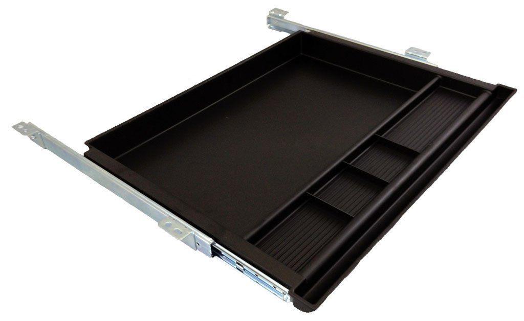 Pencil Drawer by NYCCO Underdesk Drawer 23 Inch Wide - Ball-Bearing Slides - Black