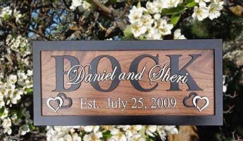 Personalized Wedding Gifts Personalized Family Name Sign Wall Art Rustic Home Decor Custom Carved Wooden Signs Couples 5th Wood Anniversary Gift