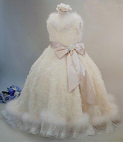 Girls Minky Rosette Cute Soft Flower Girl Dress by MelissaJaneDesigns
