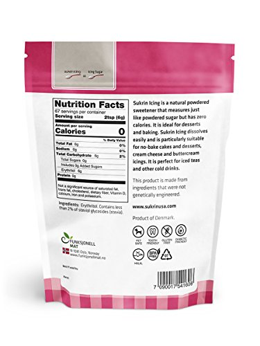 Sukrin Icing (Melis) - 400 G All Natural Powdered Sugar Substitute (6 Pack) by Sukrin (Image #1)