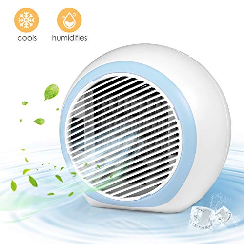IB SOUND Personal Air Conditioner, Air Personal Space Cooler with Humidifier and Air Purifier USB Mini Portable Air Conditioner, Quick & Easy Way to Cool Any Space