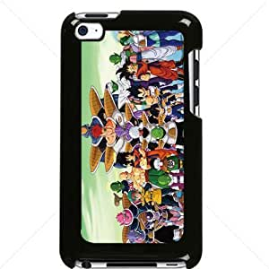 Dragon Ball Manga Comic Slim SON GOKU Apple iPod Touch iTouch 4th Generation Hard Plastic Black or White cases (Black)